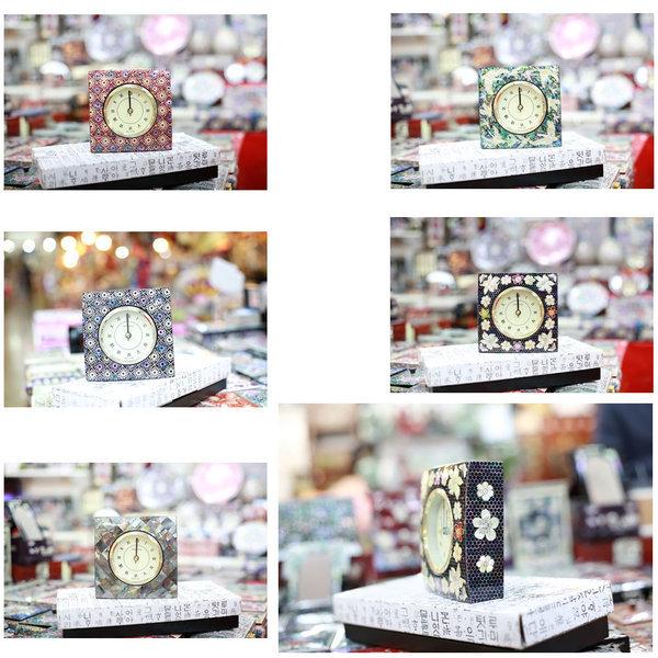 자개 사각시계 자개무늬5종선택  한국전통선물 상품이미지