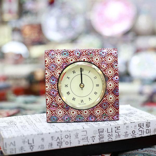 자개 사각시계 자개무늬1  한국전통선물 상품이미지