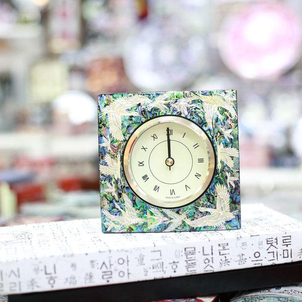 무배 자개 사각시계 자개무늬4 한국전통선물 상품이미지