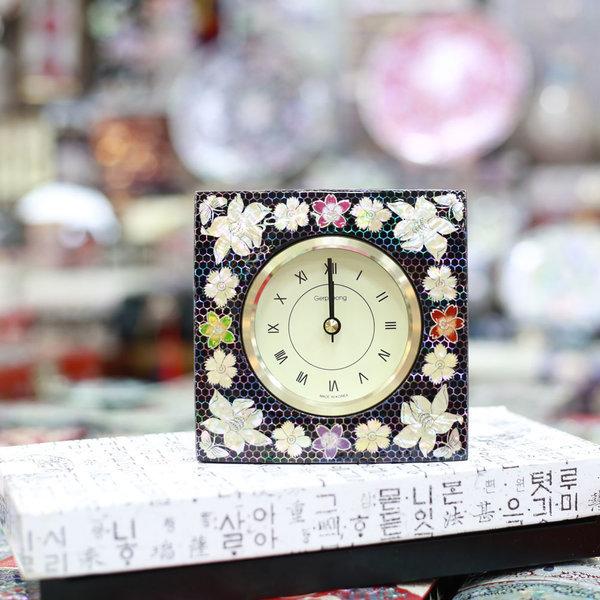 무배 자개 사각시계 자개무늬5  한국전통선물 상품이미지