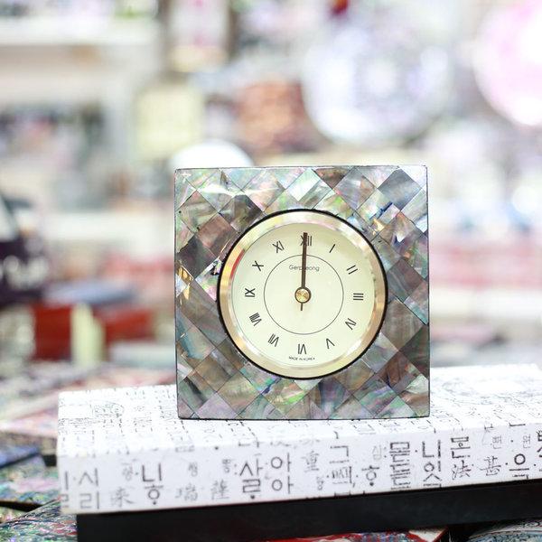 무배 자개 사각시계 자개무늬3  한국전통선물 상품이미지
