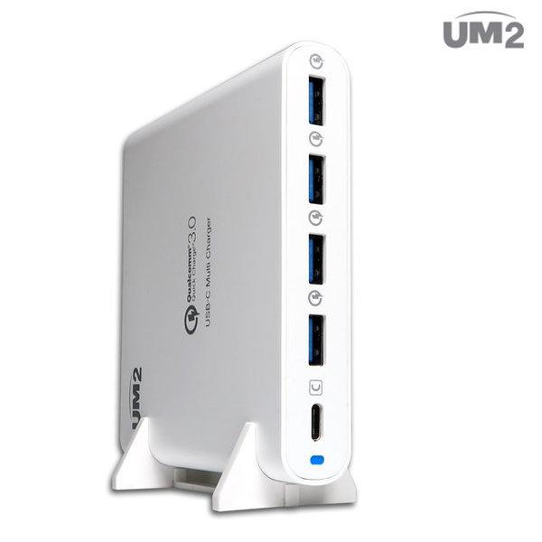UM2 USB-PD QC80W 고속멀티충전기 노트북 맥북 화이트 상품이미지
