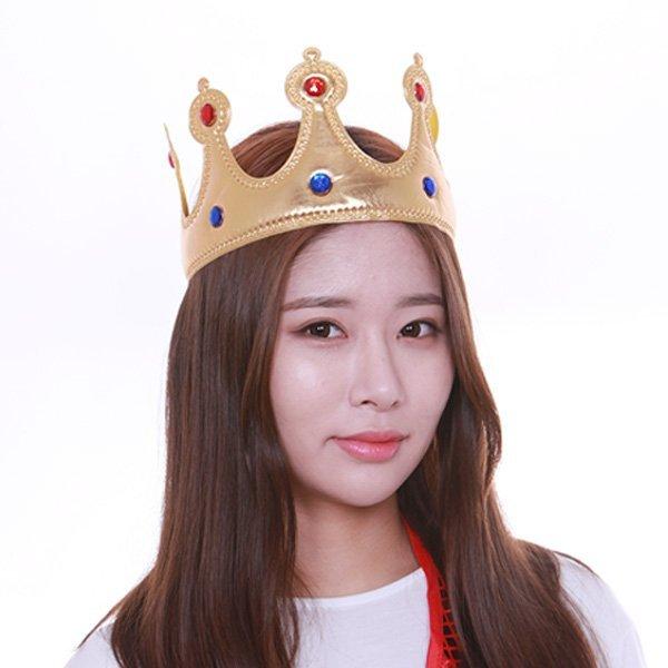 (파티공구) 스펀지왕관(골드) 스펀지 왕관 골드 생일 파티 공주 왕자 용품 머리띠 상품이미지