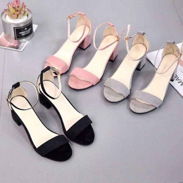 여성 미들굽 여름 신발 발목끈 구두 원피스 샌들 슈 상품이미지