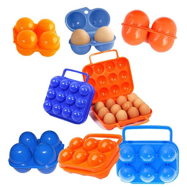 휴대용 계란 달걀 케이스 보관함 트레이 통 용기 2구 상품이미지