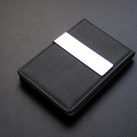 리더플랜 가죽 고급 머니클립 지갑