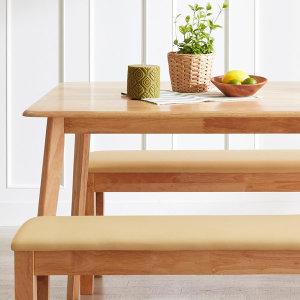 아씨방가구 특가 4인용 원목식탁(벤치/의자)