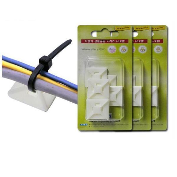 전선 케이블 타이 고정용 마운트 15개 DIY철물 상품이미지