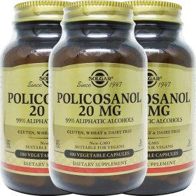 3병 솔가 폴리코사놀 Policosanol 20mg 100야채캡슐