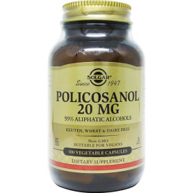 Solgar 솔가 폴리코사놀 Policosanol 20mg 100야채캡