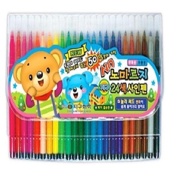 노마르지싸인펜(24색) 사무용품 문구 사인펜 색연필 상품이미지