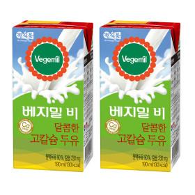 베지밀B 달콤한 고칼슘두유 190MLX48팩