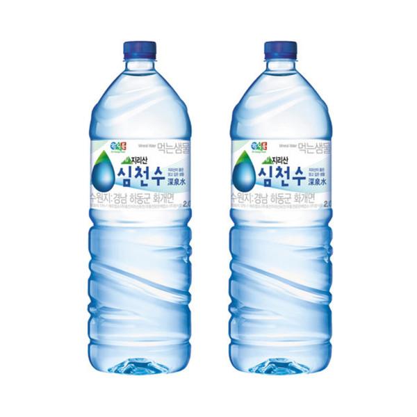 정식품 심천수 샘물 2LX12팩 신제품 생수 행사 상품이미지