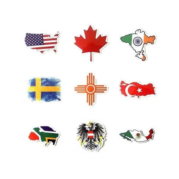 캐리어 스티커 국기 스타일 9개입 A플래그 상품이미지