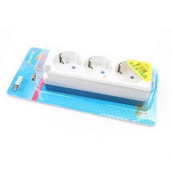 노출 3구 접지콘센트 콘센트 멀티탭 전기선 플러그 상품이미지