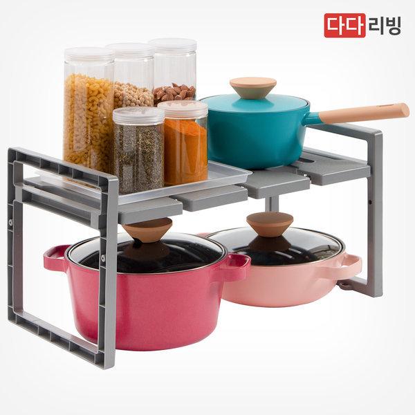싱크인 선반 600 (그레이) /씽크대 주방 냄비 선반 상품이미지