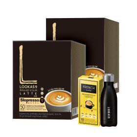 커피믹스/루카스나인 라떼 100T+유리머그컵