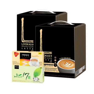 [루카스나인]커피믹스/루카스나인 라떼 100T+유리머그컵2개