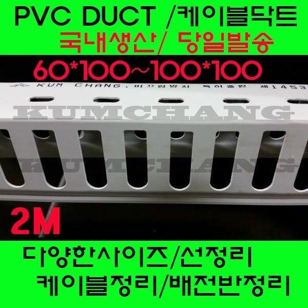 PVC 닥트 몰딩 전선관정리 배전반 백색60-100/100-100 상품이미지