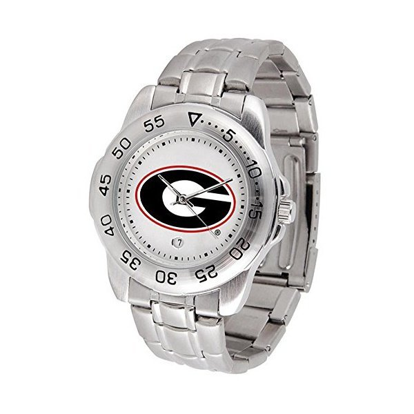 해외쇼핑/SunTime Georgia Bulldogs Sport Steel Band Mens Watch 상품이미지