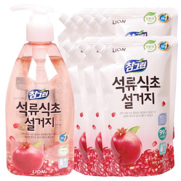 석류식초 설거지 주방세제 470g+900g   7개 상품이미지