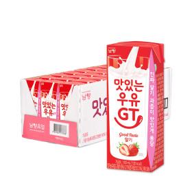 맛있는우유GT 멸균 딸기 180ml 24입