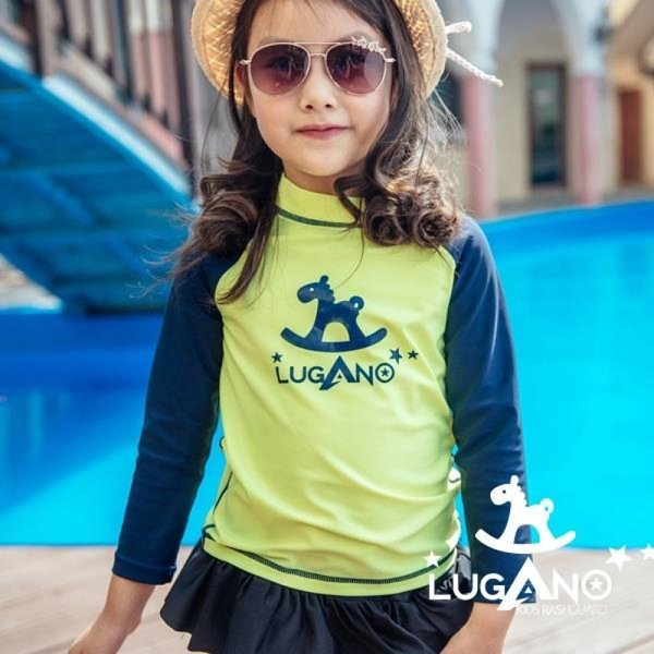 루가노 래쉬가드 아동 형광그린 7호 상품이미지