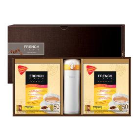프렌치카페 커피믹스 100T+도자기텀블러1개(54호)