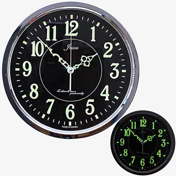 인테리어 벽시계 야광300A-크롬/무소음시계 장식소품 상품이미지