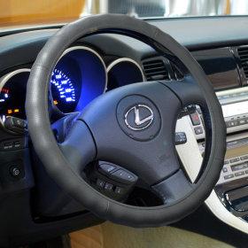 프리미엄 레자핸들커버 자동차용 가죽카바 380mm