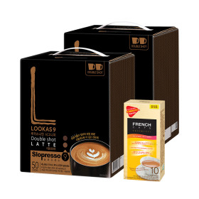 커피믹스/루카스나인/라떼 더블샷100T+믹스10T