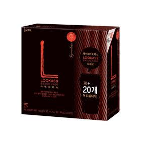 루카스나인 아메리카노/커피믹스  마일드70+20+유리컵