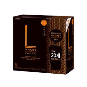 루카스나인 아메리카노/커피믹스  다크70+20T+유리컵