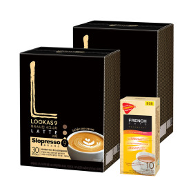 커피믹스/아메리카노/원두/루카스나인/라떼 60T+유리컵