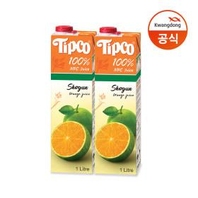 쇼군 오렌지주스 1L x 4팩/음료/음료수/주스/오렌지