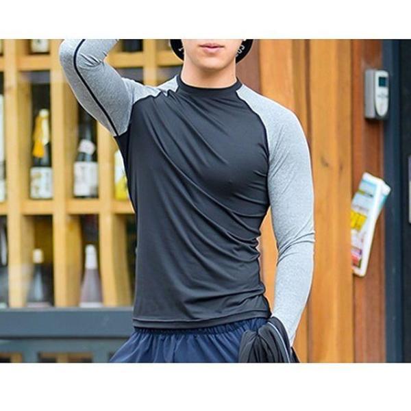 국내생산 남성 래쉬가드 솔리드 티셔츠no.2 남자래 상품이미지