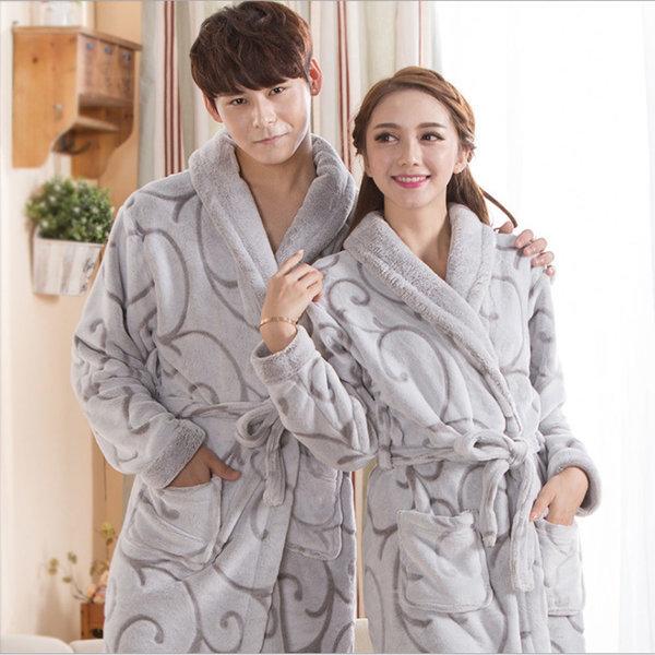극세사 커플 목욕가운 샤워가운 겨울 가운 잠옷가운 상품이미지