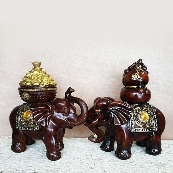 부자코끼리 세트 코끼리장식 마블장식 인테리어 소 상품이미지