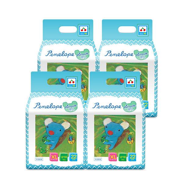 미라클 팬티기저귀 특대형(남아용) 22매 4팩 상품이미지
