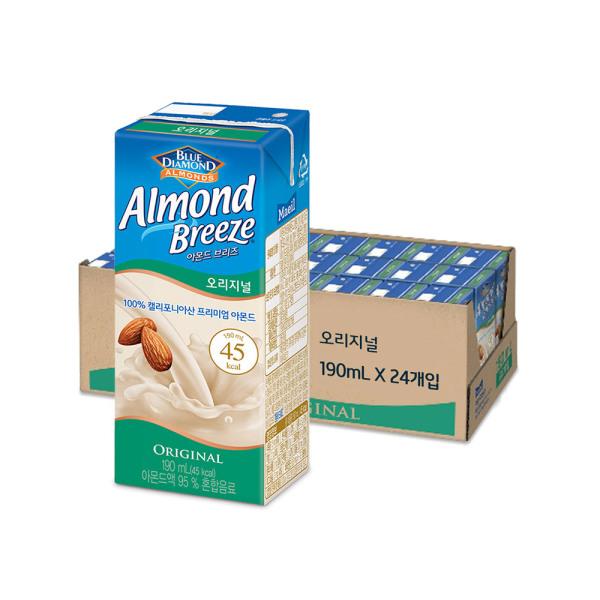 매일 아몬드브리즈 오리지널190ml24팩/두유/음료수 상품이미지