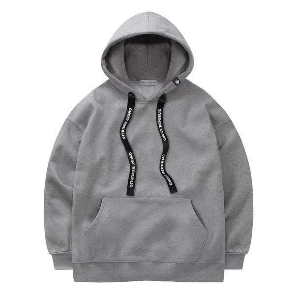 라벨 스트릿 오버핏 여자 후드티셔츠 / 커플 후드티 상품이미지