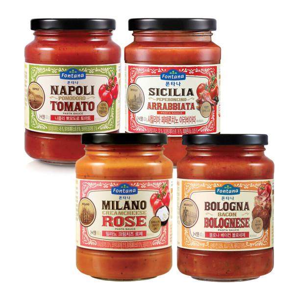 파스타소스 로제1+토마토1+아라비아따1+볼로1+면500g 상품이미지
