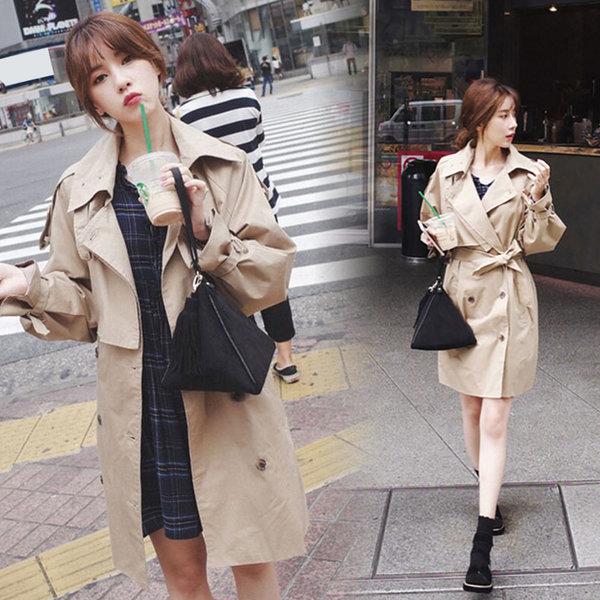 여성 가을 봄 트렌치코트 코트 자켓 여자 점퍼 상품이미지