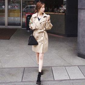 여성 가을 봄 트렌치코트 코트 자켓 여자 점퍼