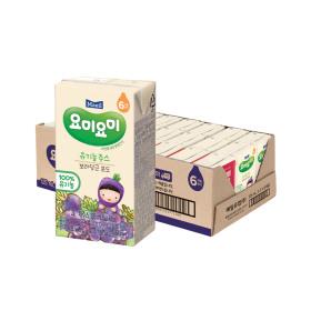 요미요미 보라당근포도 유기농주스 125ml 24팩/쥬스