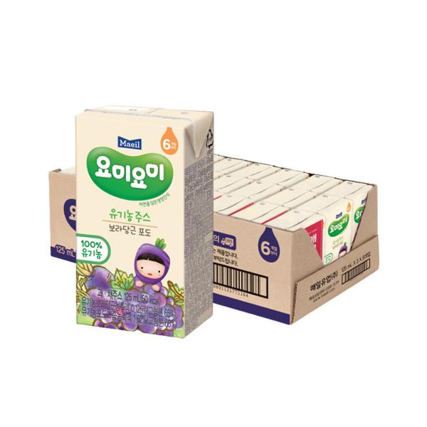 요미요미 보라당근포도 유기농주스 125ml 24팩/쥬스 상품이미지