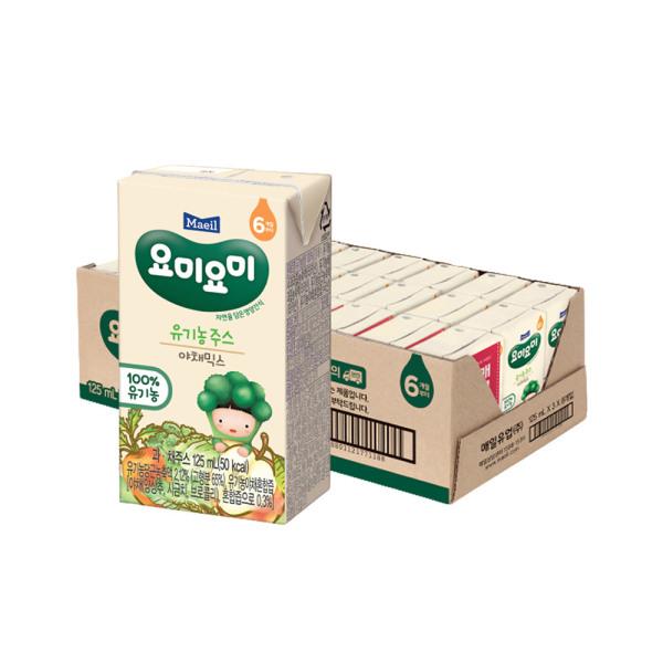 요미요미 종합야채 유기농주스 125ml 24팩/쥬스 상품이미지