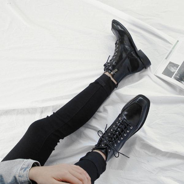 여성워커 플랫 미들 레이스업 워커  2.5cm 크리츠 상품이미지