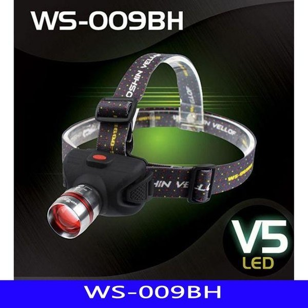 WS LED 해루질 헤드랜턴 009BH AAA-3 1EA 상품이미지