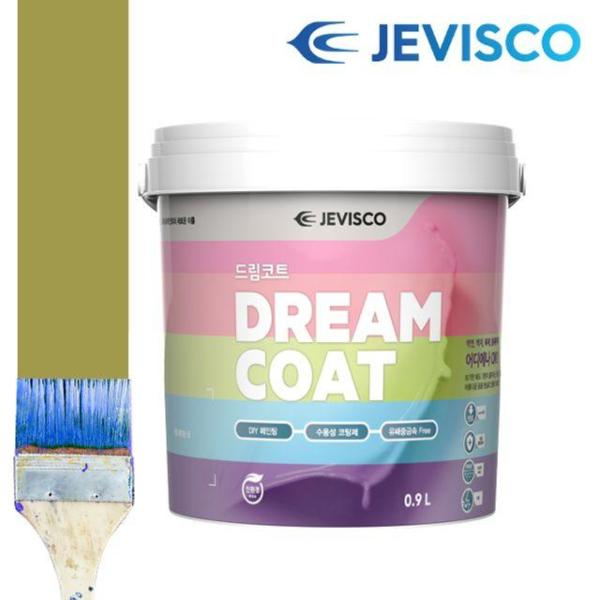 제비스코 드림코트 올리브 그린 0.9L 벽지페인트 상품이미지